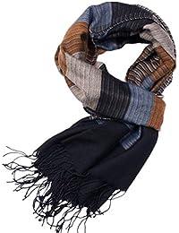 MESHIKAIER Uomo Classico Sciarpa Caldo Morbido Sciarpa Fazzoletti da Collo  con Nappe per Autunno Inverno 42f8c83ab73a