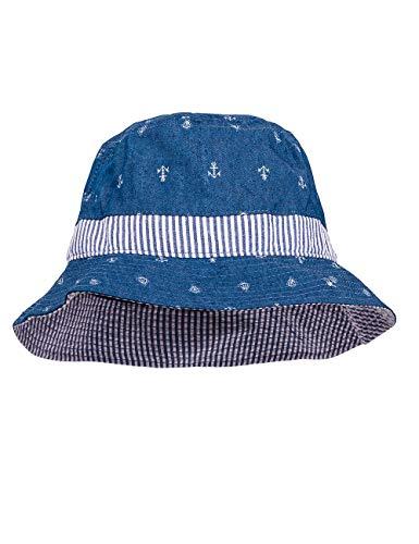maximo Baby-Jungen Hut, Anker Sonnenhut, Blau (Denim Blue-Boot Navy 6348), 49