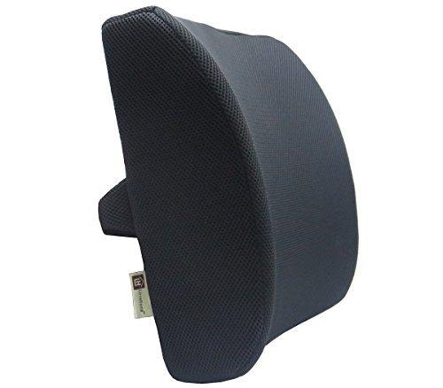 Lovehome cuscino lombare per auto 3d cuscino supporto lombare da memory foam - progettato per il rilievo del dolore al petto inferiore - cuscino lombare per sedia ufficio, sedie a rotelle, auto, casa