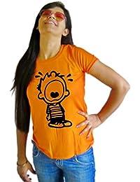 LetsFlaunt Calvin T-shirt Orange T-shirt Girls Dry-Fit Nw