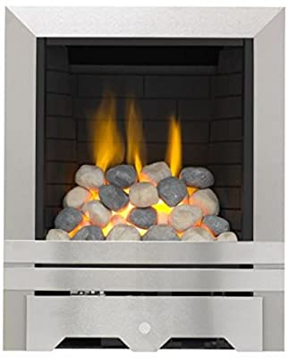 Lilliput Full Depth Radiant Gas Fire - Brushed Steel