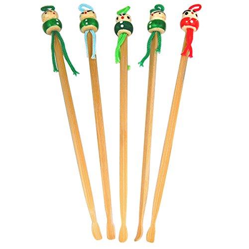 Topro Traditionelle Chinesische Japanische Orientalische Bambus Puppe Roman Ohrstäbchen/Ohrlöffel Ohrenschmalz Entferner
