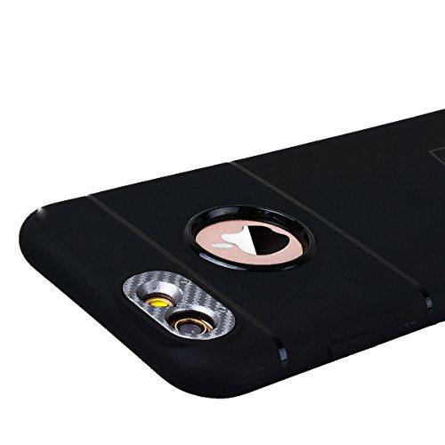 HB-Int Schutzhülle für iPhone 6 / 6S Schwarz Handytasche mit Eingebauter Magnetplatte Schwarz Kameraobjektiv Schutz Silikon Back Hülle Magnetische Auto Mount Plate Bumper Case Grau