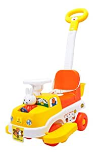 Sameo Miffy 2-in-1 Baby Ride-On Car, Multi Color