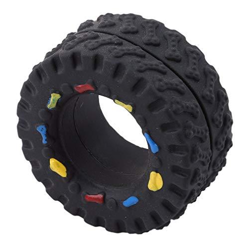 Fliyeong Premium-Qualität Reifenförmige Pet Chew Biting Toy Funny Balls mit Sound für Hunde Welpen Katzen -