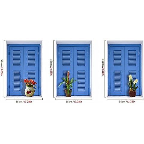 In-window ) 3D( pitture murali carta da parati camera da letto soggiorno divano TV HD sfondo auto carta adesiva
