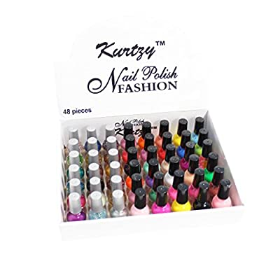 KurtzyTM 48 Pack Nail Polishes Varnishes 8ml For Manicures/Pedicures Fashionably Matt Glitter