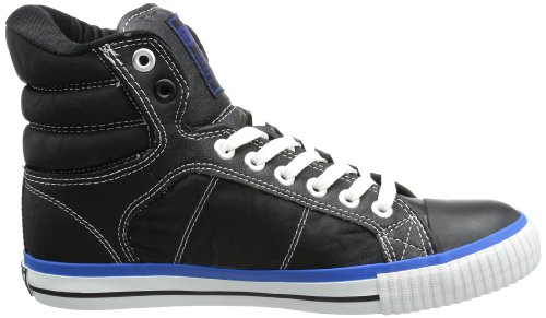 British Knights Atoll, Baskets Hautes homme Noir - Schwarz (black/blue 1)