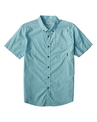 BILLABONG Herren Hemd Sundays Mini Short Sleeve Woven - Blau - X-Groß Print Woven Beanie