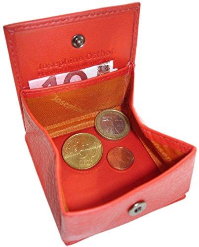 Custodia a libro in pelle CENT JOSYBAG - rosso - con Wiener coin box scatola fatta a mano