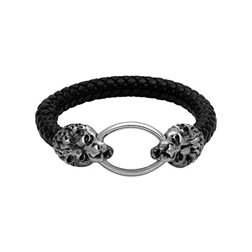 Tiger Motif Band Bracelet In Oxidized Silver Plating For Men From Dare By Voylla  available at amazon for Rs.375