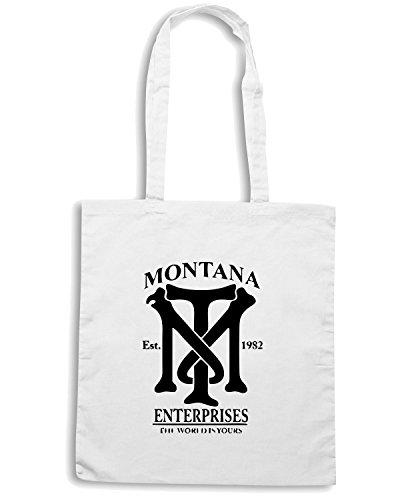 T-Shirtshock - Borsa Shopping OLDENG00187 montana enterprises (2) Bianco