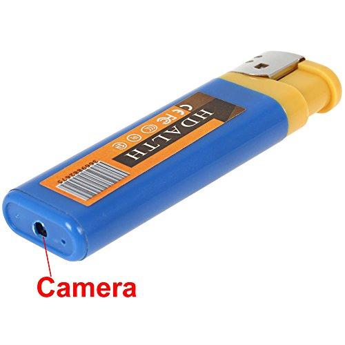 GadgetsForYou! Versteckte Spy Kamera Spycam Feuerzeug Mini Cam Spion Artikel Spionage Video A22