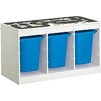 Preisvergleich für Möbelaufkleber Straßen - passend für IKEA TROFAST Regal - Kinderzimmer Spieltisch - Möbel nicht inklusive