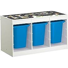 Möbelaufkleber Straßen - passend für IKEA TROFAST Regal - Kinderzimmer Spieltisch - Möbel nicht inklusive