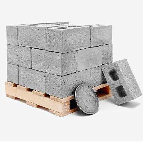Mitlfuny Lernspielzeug Spielzeug 32Pcs Mini Cement Cinder Bricks Bauen Sie Ihre eigenen kleinen Mini-Ziegelsteine auf Geburtstagsgeschenk für Kinder Erwachsener (Gray)