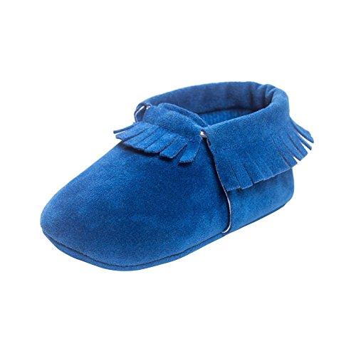 Moresave , Chaussures premiers pas pour bébé (fille) Bleu