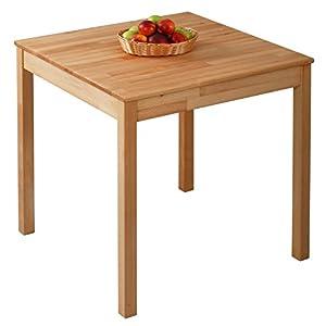 Krokwood Tomas Massivholz Esstisch in Buche 75x75x75 cm FSC100% massiv Beistelltisch geölt Buchenholz Esszimmertisch Küche praktischer Küchentisch Holztisch vom Hersteller