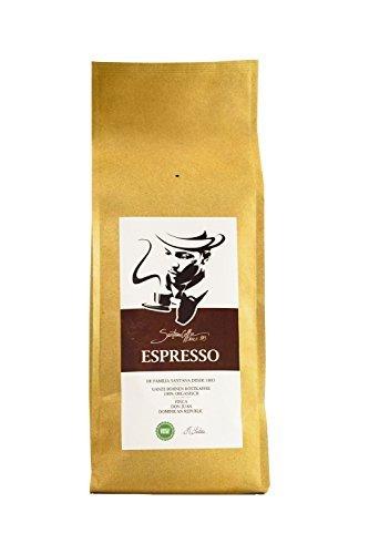 SANTANA ESPRESSO | Premium Espresso Ganze Bohne Röstkaffee | Fair Trade Kaffeebohnen | Aus der Dominikanischen Rep. (500 GR)