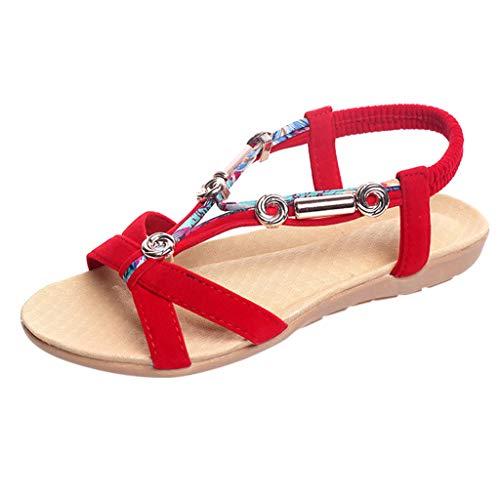 Lanskrlsp bohemian sandals per le donne, sandali estivi sandali scarpe basse per le signore