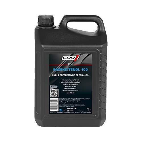 CAR1 Sägekettenöl 100 High Performance Haftöl Sägekette Motorkettensäge mineralisch 5L