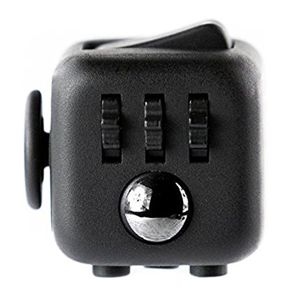 #Younger schwarz Fidget Cube Stresswürfel Zappeln Cube Würfel vergleichbar wie mit 6 unterschiedliche Funktionen entlastet Stress und Angst und Entspannung für Kinder und Erwachsene#
