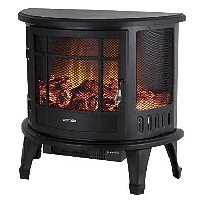 Warmlite WL46017 Log Effect Stove Fire Black