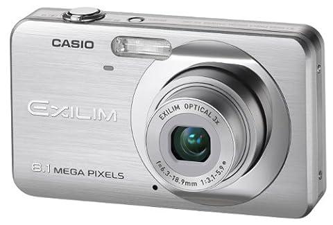 """Casio EXILIM EX-Z80 SR Digitalkamera (8 Megapixel, 3-fach opt. Zoom, 2,6"""" Display) silber"""
