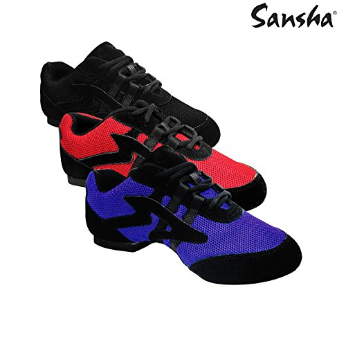 Sansha v931m Salsette 1-Schuhe Tanz Damen, damen, V931M SALSETTE 1 Rouge _716