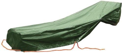 Rainexo Wetterschutzhülle Hochreißfest für 1 Gartenliege, 1.85 x 1.15 x 0.68 m, Grün, UV beständig 5 Jahre