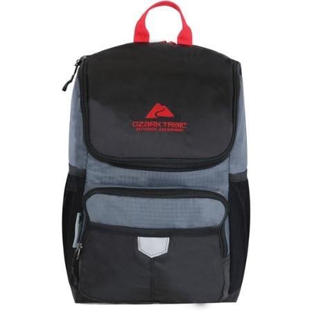 Ozark Trail 24-Can Kühler Rucksack mit Thermo-isolierendes Futter, Mehrere Taschen außen und Sicherheit Reflektierende Tab, Schwarz, ot16003004bl Trail Thermo