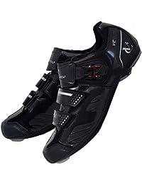 VeloChampion Zapatillas de Ciclismo Elite Road (par) Cycling Road Shoes Black/Silver 46