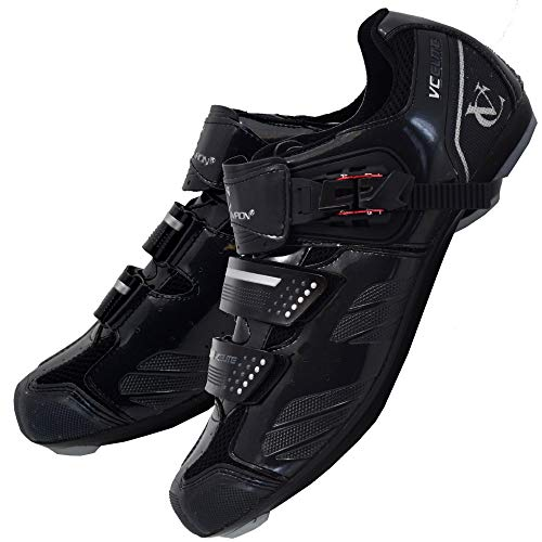 VeloChampion Elite Rennradschuh (Paar) Black/Silver 42 Road Cycling Shoes
