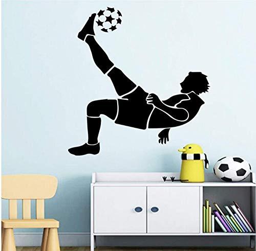 (Vinyl Aufkleber Kunst Aufkleber Dekoration Fußball Aufkleber Tapete Wohnzimmer Kinderzimmer Wanddekor Murals58X62Cm)