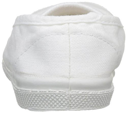 Bensimon Tennis Elastique, Baskets Basses Mixte Enfant Blanc (Blanc)