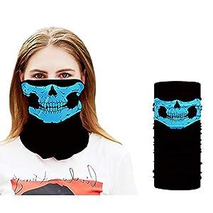 Angoter Unisex Schädel-Schal Ring Schädel-Gesichtsmaske Bandana Motorrad-Gesichtsmasken Male Stirnband Röhrenhals Kopftuch Stirnband für Männer Frauen (blau)