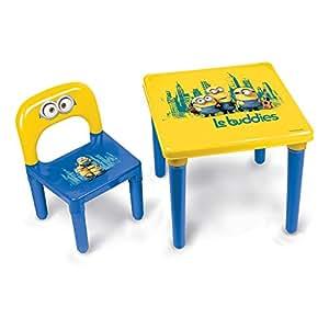 Minions set con tavolino e sedia per bambini incl kit da - Sedia e tavolino per bambini ...
