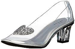 Ellie Shoes Women's 212-Ariel Slide Pump, Clear, 10 M US