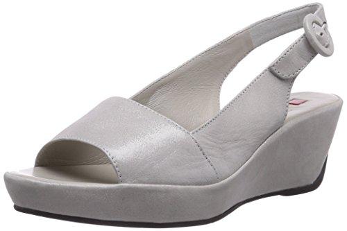 Högl 9-103225-7300 Damen Slingback Sandalen mit Keilabsatz Silber (7300)