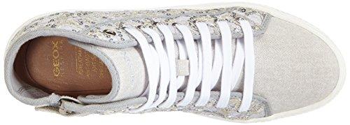 Geox J HIGHROCK D Mädchen Hohe Sneakers Silber (Silverc1007)