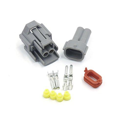 sourcing map Kit de connecteur de câble de câble électrique imperméable de manière terminale 2 pour moto voiture