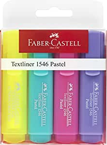 Textliner Highlighter Pen 46 Pastel Colours Pack of 4