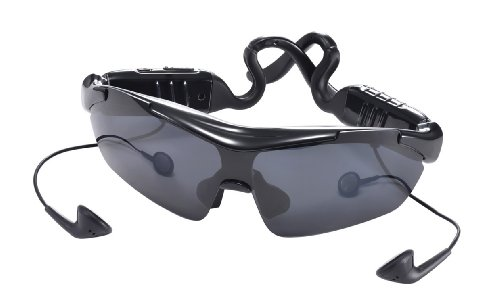 PRECORN Bluetooth Sonnenbrille Smart Bluetooth Sport Sonnenbrille High Quality Stereo Bluetooth Headset Brandneue Touch-Control-Technologie Modern und Stilvoll in schwarz