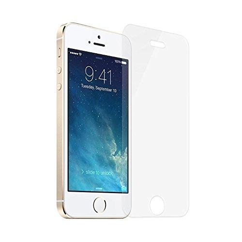 mumbi ECO Hart Glas Folie kompatibel mit Apple iPhone SE Panzerfolie, iPhone 5S Panzerfolie, Schutzfolie Schutzglas (2x)