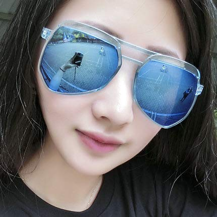 Sonnenbrillen Retro Polarisiert Männerspiegel Uv400 Schützt Fahrspaß Im Freien, Damen Fahren Fahrer-spiegel Blauer Film mit Blauem Rahmen (Taschentuch)
