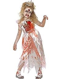 Zombie Dornröschen Kostüm für Kinder - Gruseliges Halloween Kostüm für Mädchen