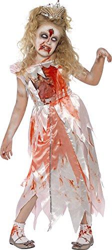 Gruselig Kostüm Kinder - Zombie Dornröschen Kostüm für Kinder Gr. M (7-9 Jahre) - Gruseliges Halloween Kostüm für Mädchen