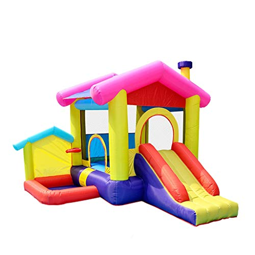 Bouncy Castles Sports Toys Summer Children's Outdoor Slide Outdoor Large Playground Inflatable Swimming For Children Summer Children's Playground (Color : Color, Size : 320 * 285 * 243cm)