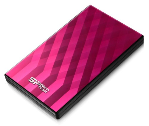 Silicon Power SP500GBPHDD10S3P externe Festplatte 500GB (6,4 cm (2,5 Zoll), 7200rpm, 8 MB Cache, USB 3.0) pink