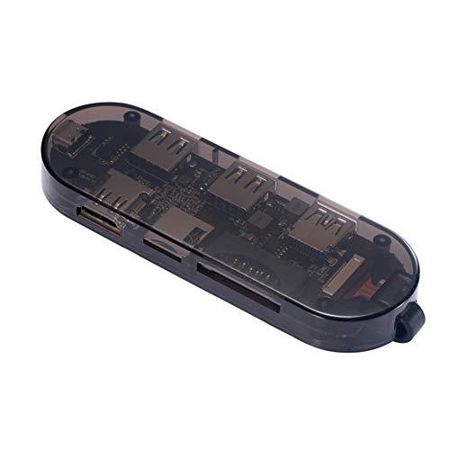BESTSUGER USB C-Hub-Dock, USB C-Hub-Dock Transparenter Adapter